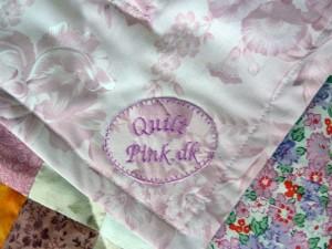Quilt pink mærkater - set på HANNES blog