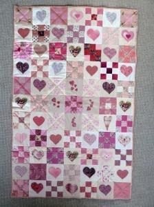 Meget flotte Quilt pink tæpper - set hos HANNES patchwork