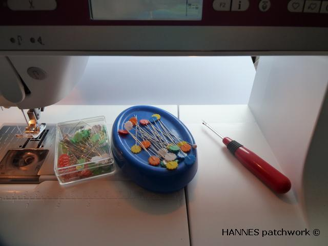 sytilbehør til symaskine når du syr patchwork. HANNES patchwork vise dig hvad du skal bruge.