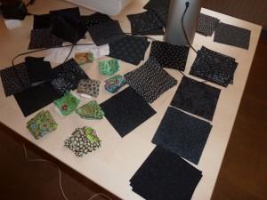 HANNES patchwork af holder tæppe kursus med sorte firkanter