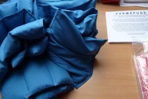 Næsten færdigpakket varmepuder fra HANNES patchwork
